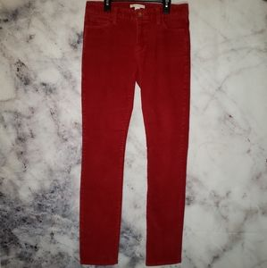 Banana republic saucy red corduroy pants size 27